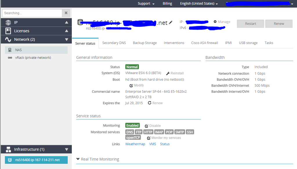 Setting up a VMware Esxi 6 0 Virtual Server on OVH Hosting