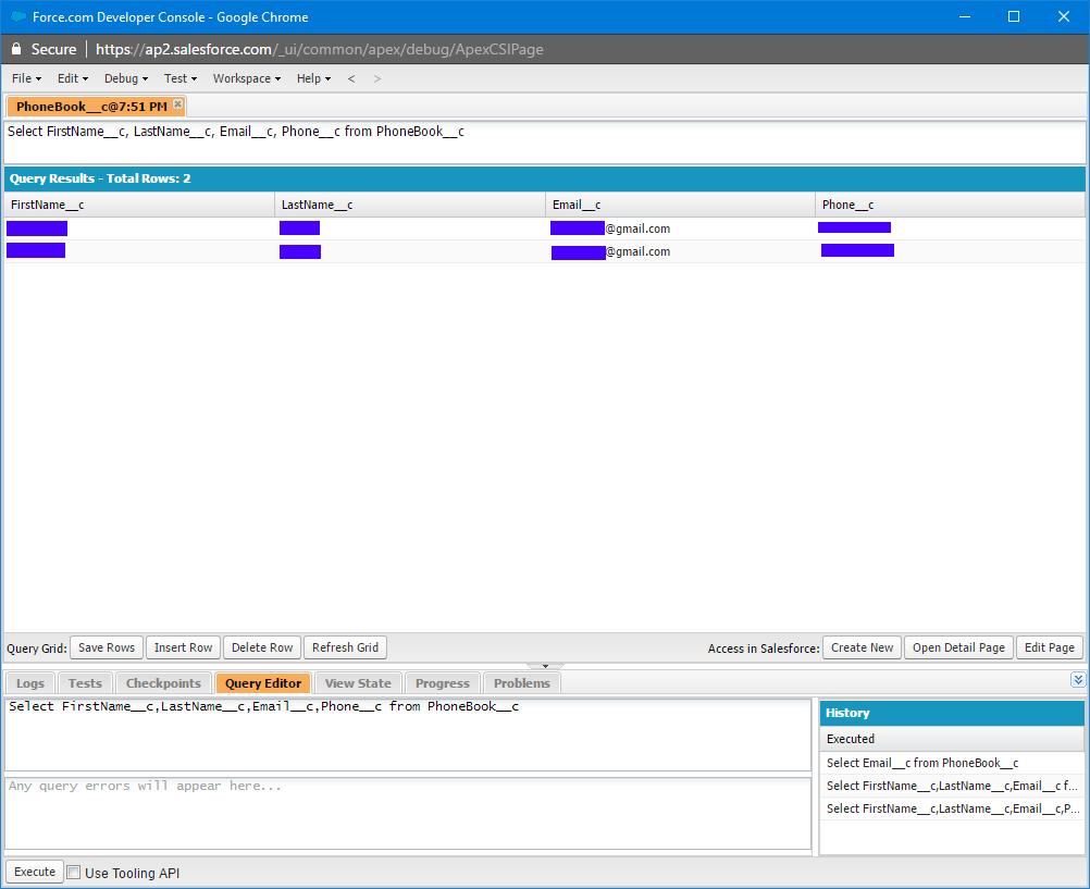 Salesforce CRUD operations using C# in AuctionWorx (ASP NET