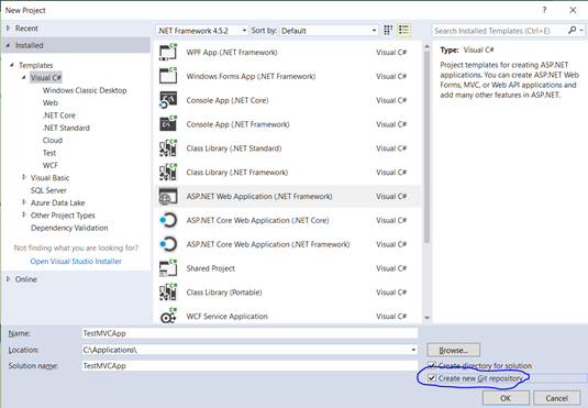 Setting up CI for ASP NET MVC to deploy on Azure Cloud